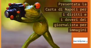 Cartai di Napoli: diritti e doveri del giornalista per immagini